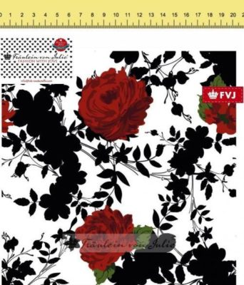 Sommersweat - Roses Black & White