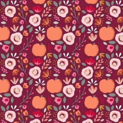 Beschichtete Baumwolle Easy Peasy - berry