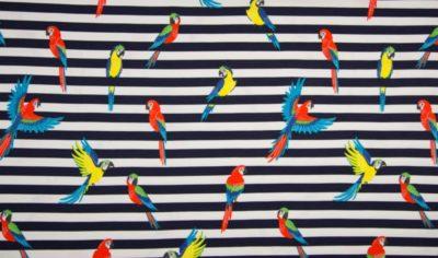 Glitzer Papageien auf marine weiß
