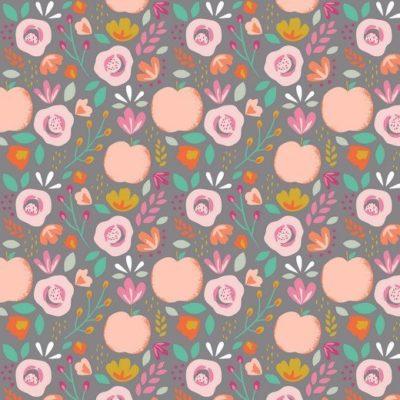 Baumwolle Popelin - Easy Peachy - grau