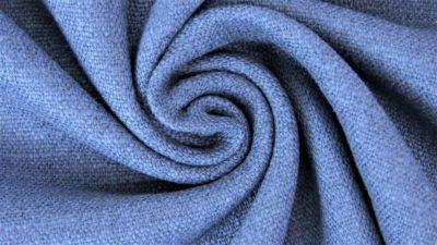 Stretch Leinen - blau