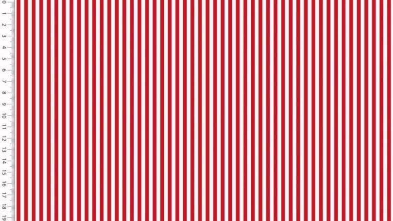 Popelin - Streifen - rot