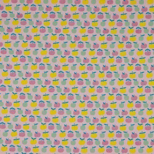 Baumwolle Popelin - Gitter Yummy Apple - rose