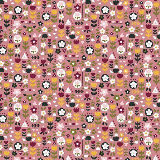 Baumwolle Popelin - Happy Feeling - rose