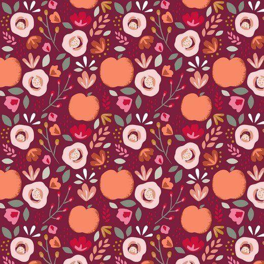 Baumwolle Popelin - Easy Peachy - berry