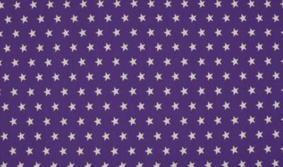 Baumwolle Popelin - Sterne - lila