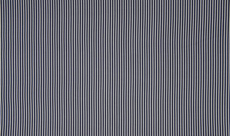 Baumwolle Popelin - Streifen - navy