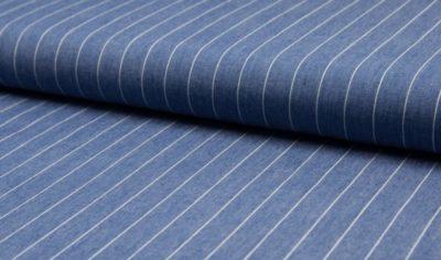 Chambray - Streifen - hellblau
