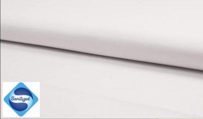 Antibakterieller Popeline Baumwollstoff Für Kochwäsche geeignet - weiß -Sanitized®