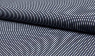 Chambray - Kleine Streifen - dunkelblau