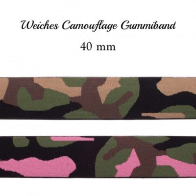 weiches Camouflage Gummiband 40 mm