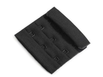 BH Verschluss Breite 50 mm 3 Reihen - schwarz