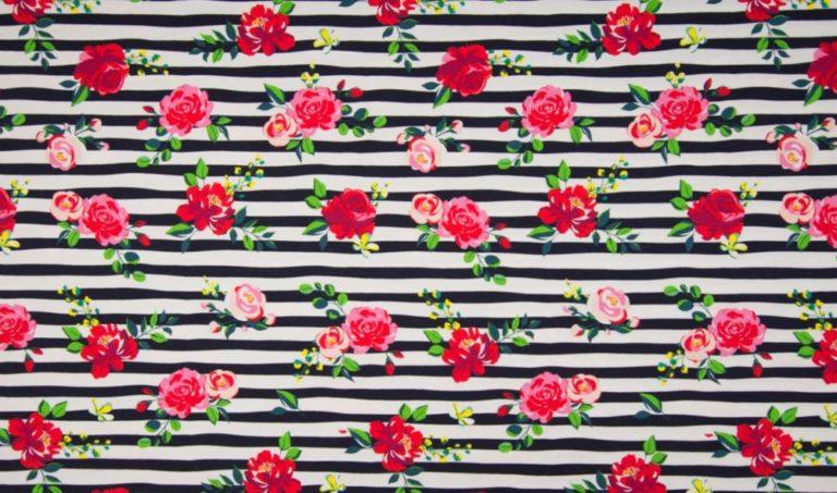 Jersey - Flower Stripe