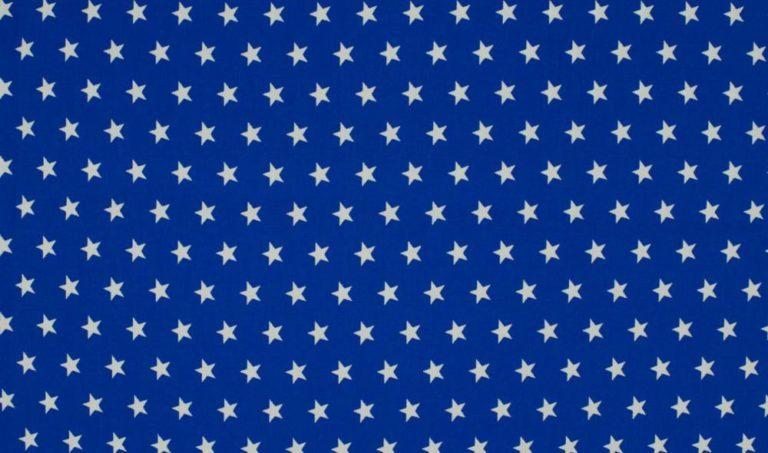 Baumwolle Popelin - Sterne - royalblau