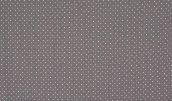 Baumwolle Popelin - Small Dots - grau