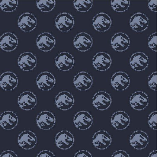 Baumwolle Popelin - Jurassic World - navy