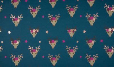 Jersey mit Folie - Fancy Deer