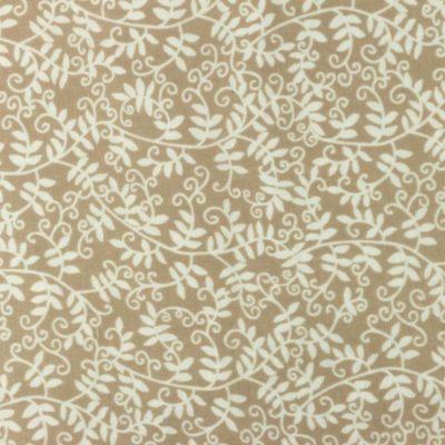 Musselin Baumwolle Efeu - sand
