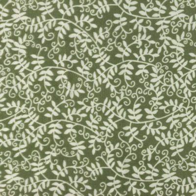 Musselin Baumwolle Efeu - altgrün
