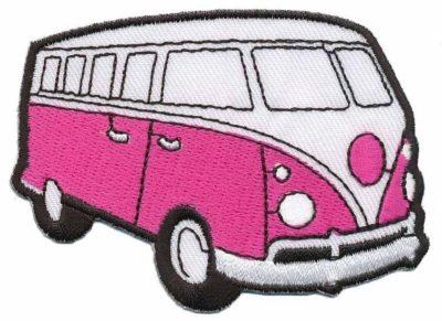 Patch - Hippie Bus - pink