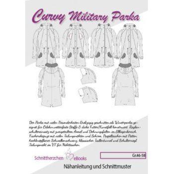 Curvy Military Parka