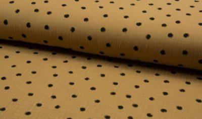 Musselin Baumwolle Dots - caramel