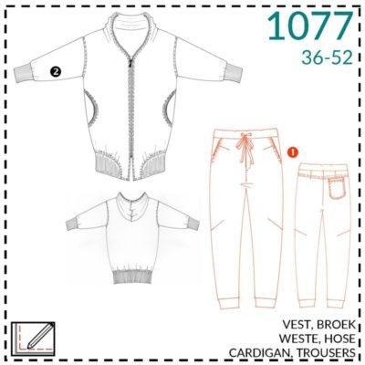 it's A fits 1077, Jacke + Jogginghose, Schnittmuster