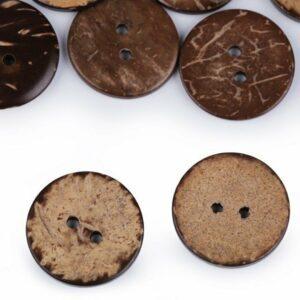 Kokosnuss Knöpfe beidseitig - 20 mm