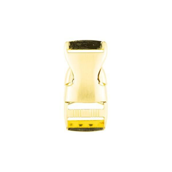 Steckschnalle (25mm) aus Metall - gold