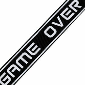 "Ripsband / Retro Stripes - 25 mm - ""Game Over"""