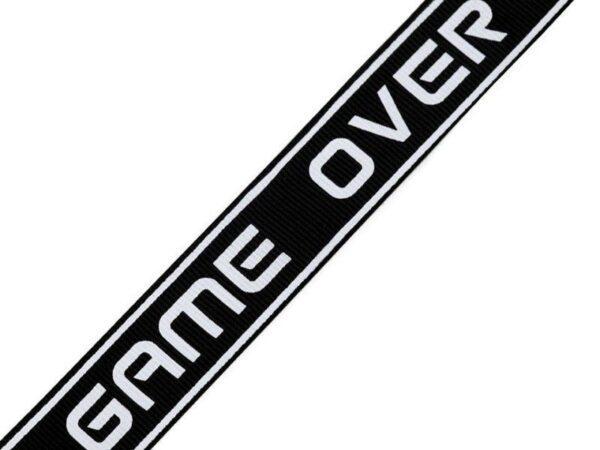 "Ripsband / Retro Stripes - 25 mm - ""Game Over"""