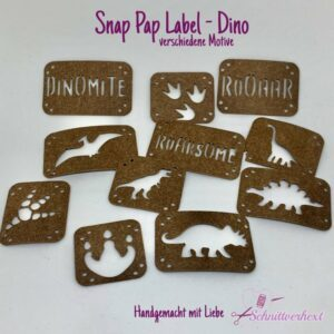 Snap Pap Label Dino