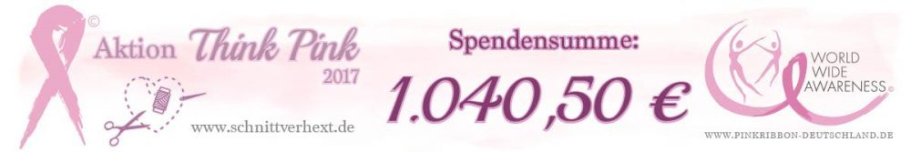 Spendensumme Think Pink