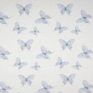 Organic Jersey - Schmetterlinge - hellblau