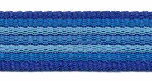 Gurtband - gestreift - 25 mm - blau