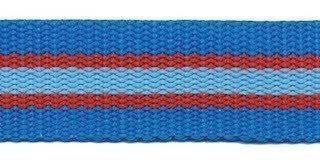 Gurtband - gestreift - 25 mm - blau rot