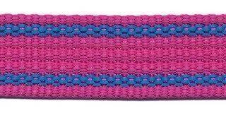 Gurtband - gestreift - 25 mm - fuchsia blau
