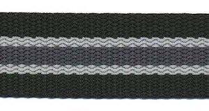Gurtband - gestreift - 25 mm - schwarz grau